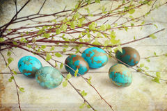 Painted eggs Stock Image