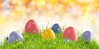 Easter holiday background with copy space royalty free stock images