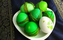 Painted eggs for easter Royalty Free Stock Photography