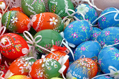 Painted eggs Royalty Free Stock Images
