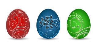 Painted eggs on a white background Royalty Free Stock Images