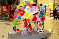 Painted Elephant statue Stock Image