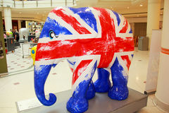 Painted Elephant statue Royalty Free Stock Photos