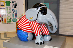 Painted Elephant statue Royalty Free Stock Photo