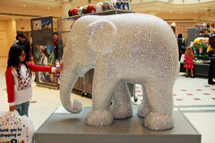 Painted Elephant statue Royalty Free Stock Photography