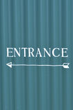 Painted entrance sign. Royalty Free Stock Photography
