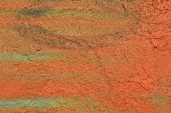 Painted enyesó la pared Imagen de archivo