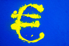 Painted Euro sign Royalty Free Stock Photo