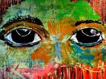 Painted Eyes Illustration 5 Stock Image