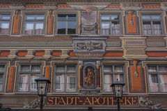 Painted facade in Fussen Royalty Free Stock Photo