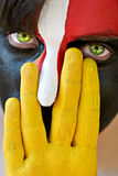Painted face Royalty Free Stock Photo