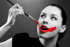 Painted face Stock Photography