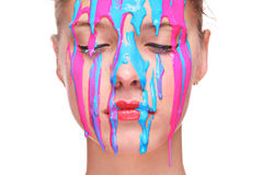 Painted face Royalty Free Stock Images