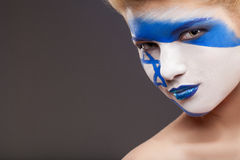 Painted face. Royalty Free Stock Photography