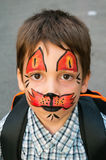 Painted face Stock Image