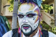 Painted Face for Parade Stock Photography