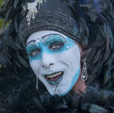Painted Face for Parade Stock Photo