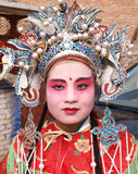 Painted face woman Stock Photos