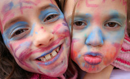 Painted faces Royalty Free Stock Images