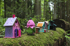 Painted Fairy Houses Royalty Free Stock Photo