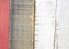 Painted faux parquet as colored planks Royalty Free Stock Photo
