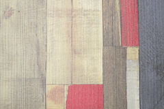 Painted faux parquet as colored planks Stock Image