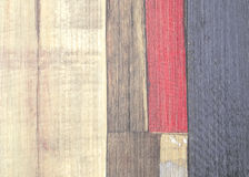Painted faux parquet as colored planks. Abstract background Stock Images