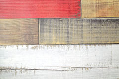 Painted faux parquet as colored planks Royalty Free Stock Photos