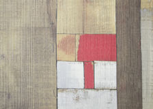 Painted faux parquet as colored planks Royalty Free Stock Image