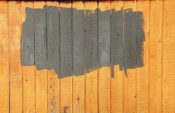 Painted fence Royalty Free Stock Images