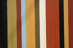Painted Fence Stock Photo