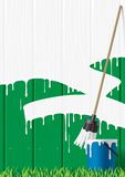 Painted fence vector illustration