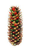 Painted fir cone Stock Photos