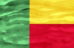 Painted flag of Benin royalty free stock images
