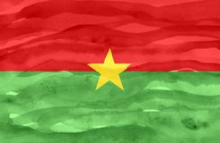 Painted flag of Burkina Faso stock image