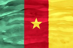 Painted flag of Cameroon stock image