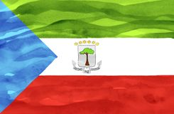 Painted flag of Equatorial Guinea royalty free stock photos