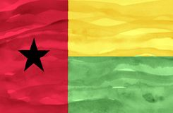 Painted flag of Guinea Bissau stock photo