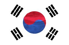 Painted flag of South Korea stock photo