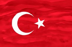 Painted flag of Turkey stock image