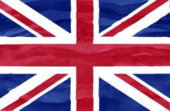 Painted flag of United Kingdom stock photography