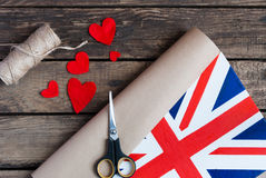 Painted Flag of The United Kingdom of Great Britain and Northern Royalty Free Stock Photos