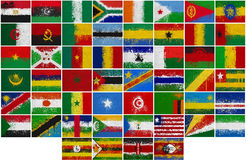Painted Flags of Africa Stock Image