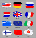 Painted flags Royalty Free Stock Photo