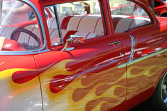 Painted Flames on Car