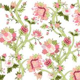 Painted floral background Stock Photo