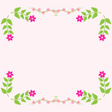 Painted floral greeting card. Stock Images