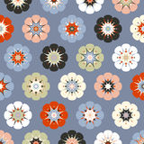 Painted flowers background vector illustration
