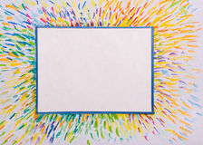 Painted frame colors Stock Photos