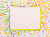 Painted frame colors Royalty Free Stock Image